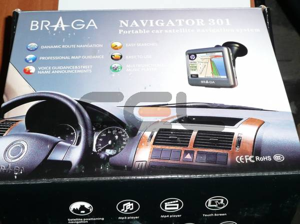 pda gps braga navigator 301