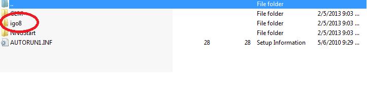 folderul igo8 din becker