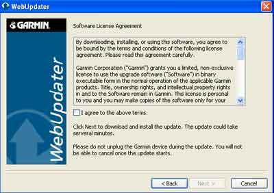 garmin web updater
