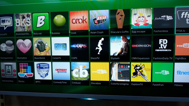 aplicatii pe smart tv sony w706