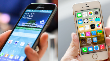 Samsung Galaxy S5 versus iPhone 5S