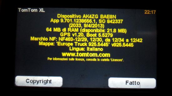 softul camion si harta Europe truck instalate pe TomTom XL