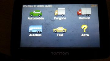 alegere rutare camion in meniu Tom Tom XL
