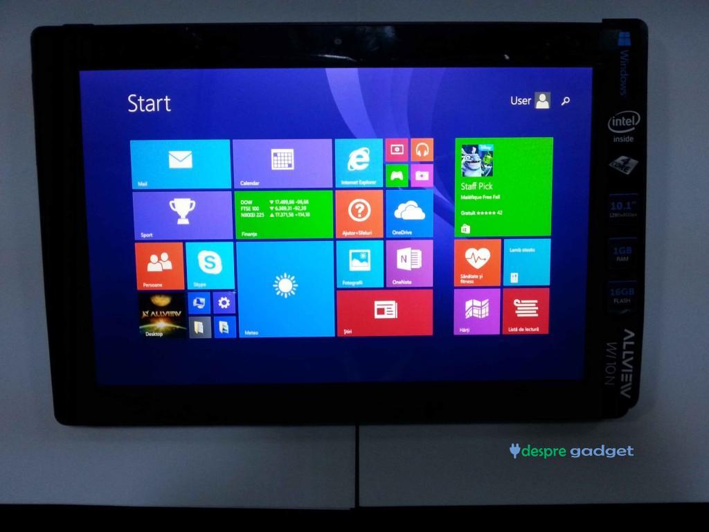 Sistemul de operare Windows 8.1 pe Allview Wi10N