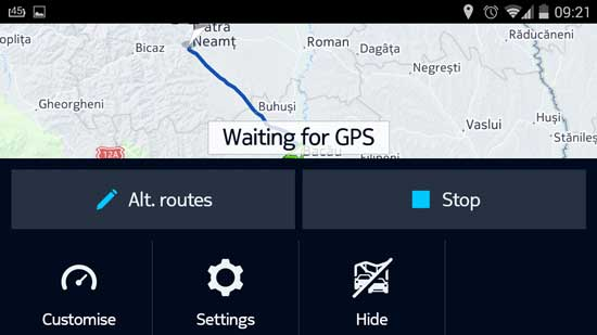 setari HERE Maps pentru Android