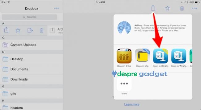 cum vad fisiere arhivate pe iPhone sau iPad