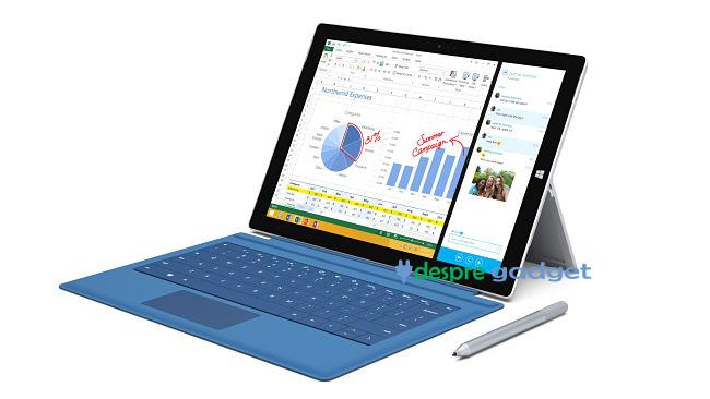 tableta Microsoft Surface 3 este disponibila la precomanda
