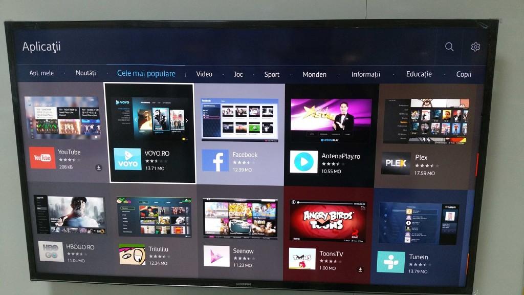 aplicatii populare pe Samsung Smart Tv cu Tizen