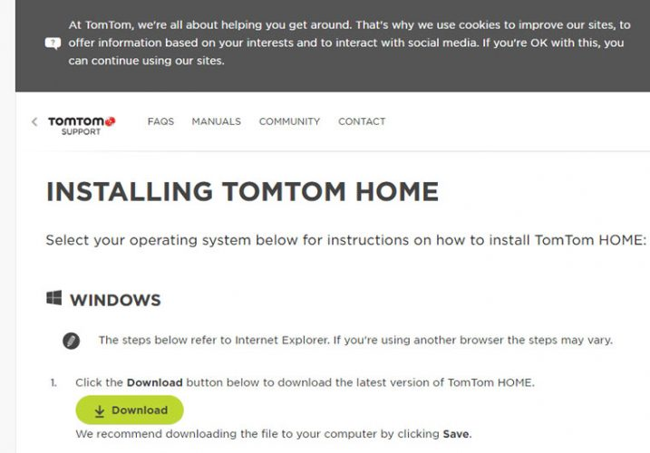 Instalare TomTom Home