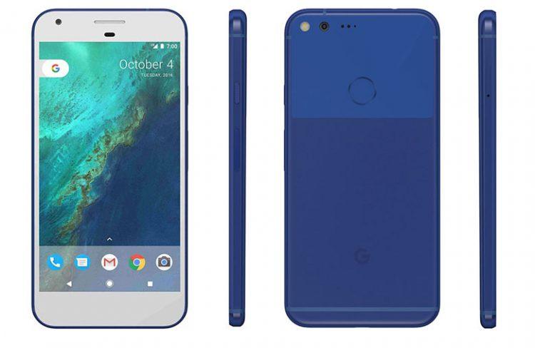 google pixel smartphone albastru
