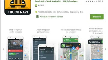 Roadlords aplicatie gps camion similara Waze